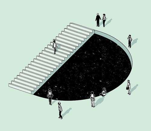 Escalera imposible escher ilusiones opticas - Figuras geometricas imposibles ...