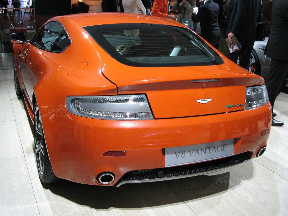 Power Cars Aston Martin V8 Vantage N400 Karussell Orange